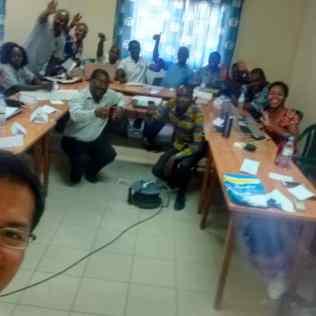 Equipo ADRA Togo y visita de la directora regional de programas. Foto: archivo Aldo Huanca