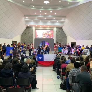 Muestra cultural chilena.