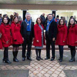 Líderes del Ministerio del Niño y del Adolescente en Chile, con líderes de la DSA.
