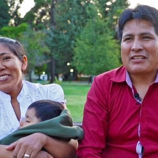 Familia feliz de entregar su vida a Cristo.Foto: Gerson Salamanca – Asociación Norte de Chile
