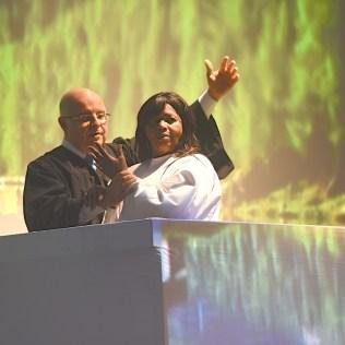 Batismo de Luzia foi um dos pontos altos do programa - Crédito: Wilson Azevedo