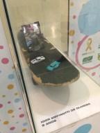 Na exposição são mostrados brinquedos de crianças vítimas de acidente de trânsito