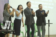 Ministério de Louvor do Espaço Novo Tempo no auditório Jovem