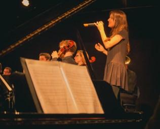 Espetáculo encerrou com orquestra mais um solo de música biblica.