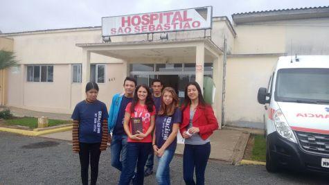 Visita ao hospital São Sebastião em Papanduva