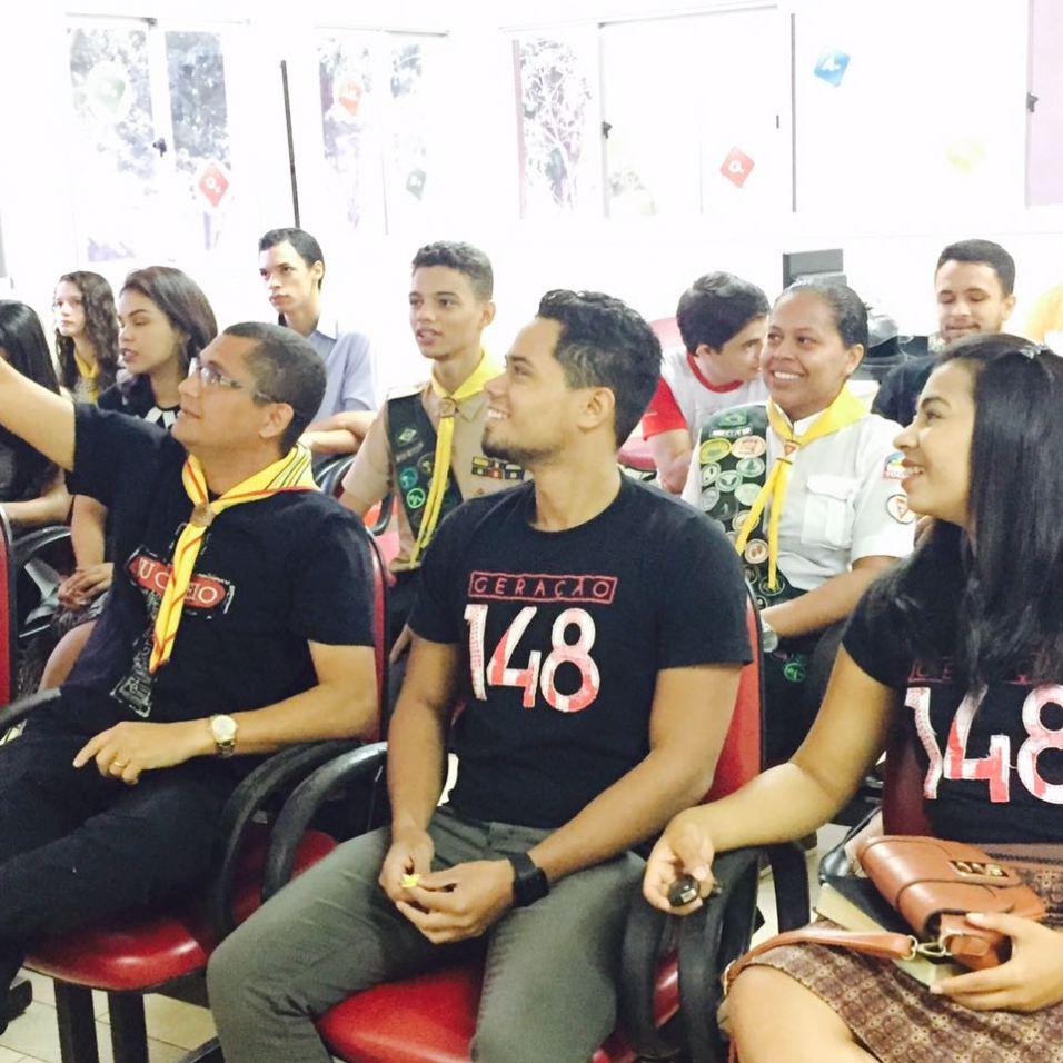 Integrantes do Geração 148 foram até o Hemocentro de Palmas para doar sangue. (fotos: Comunicação MTo)