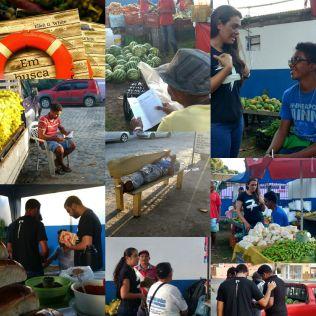 Evangelismo na feira livre em Santa Cruz Cabrália