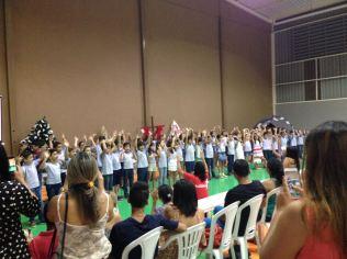 A noite os pais de estudantes da Escola Adventista de Gurupi participaram da Semana Santa.