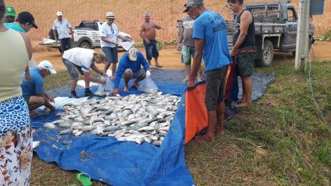 Uma das partes da pescaria