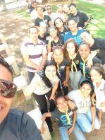Grupo de adolescentes e jovens envolvidos no projeto