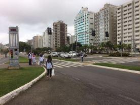 O local foi a região da Avenida Beira-Mar Norte, em Florianópolis