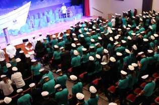 Servidores colocaram o quepe para firmarem compromisso missionário nas unidades de ensino