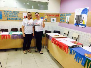 Professoras Thalita Correia (esq) e Tânia Campanholo coordenadoras do projeto.