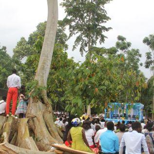 Culto realizado no dia 27 de janeiro reuniu cerca de 4 mil pessoas (Foto: Elkeane Aragão)
