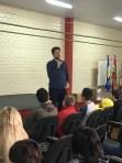 Pastor Marcelo Pereira ministra palestra com orientações para diminuir índices de suicídio. [Foto: Reprodução].