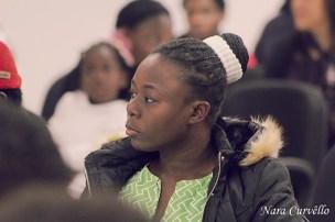 Imigrantes do Haiti participam de formatura da segunda turma do curso de português. [Foto: Nara Curvello].