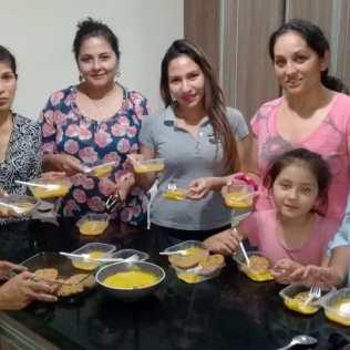 Culinária saudável é uma das opções oferecidas pelos voluntários (Foto: Divulgação)