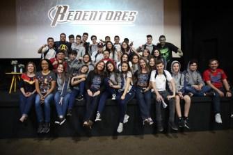 Turmas dos 3º anos posam para foto no encerramento do evento. [Fotos Paulo Ribeiro].