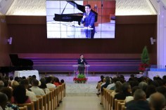 Pastor Lucas Alves, ministerial associado para a América do Sul, foi o orador da cerimônia
