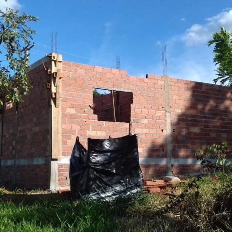 Casa durante a construção