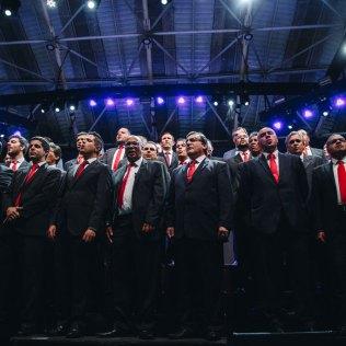 Coral de pastores da região central do estado de São Paulo foi uma das atrações musicais do evento