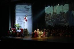 Encenação de Jesus durante o sermão da montanha. [Foto: Judson Pereira].