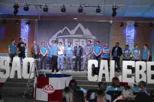Pastores recebem palavras de agradecimento por terem apoiado o projeto nas igrejas locais (Foto: Maxwell Santana)