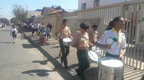 Bandas de fanfarras participaram das ações (Foto: Divulgação)