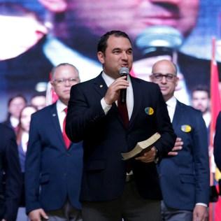 Pastor Carlos Campitelli foi um dos oradores.