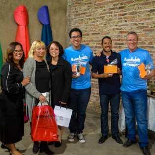 Adriana Gasquez, Estela Velazquez, Lisiane Robledo, Prof. Guilherme, Pr. Lucas Fridmam e o diretor do Ipae, Prof. Robledo Moraes.
