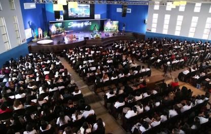 Mais de 1000 mulheres lotaram o Catre BH. (Foto: Renata Paes)