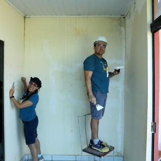 Reforma feita pelos voluntários. (Foto: Dinei Avelar)