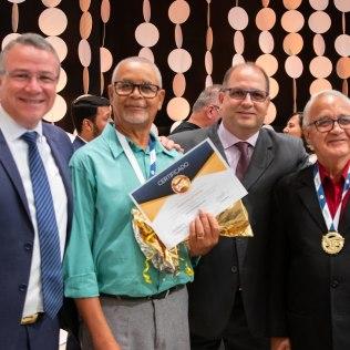 Prof. Robledo Moraes, Mateus Felicio Maciel, Pr. Ademar Baesso e Elias Costa.