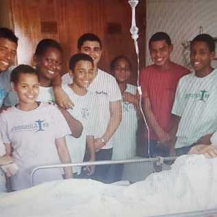 Visita a hospitais com adolescentes da Rocinha.