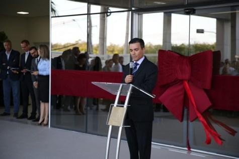 Engenheiro Ebieser Ramos fala aos convidados