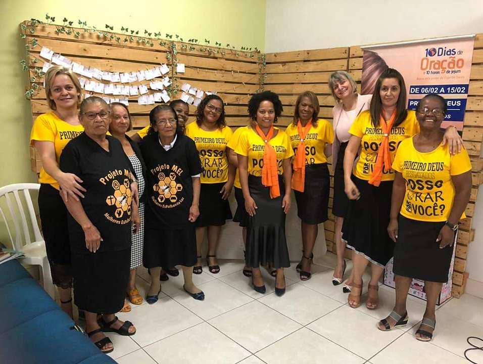Na Igreja de Água Rasa o Ministério da Mulher vestiu, literalmente, a camisa para promover o projeto na igreja (Foto: Arquivo Pessoal)