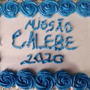 Bolo de celebração da Equipe Calebe. Foto: Arquivo pessoal