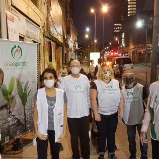 Equipe voluntária do projeto CASA Esperança. | Fotos: Marcio Luis Pereira