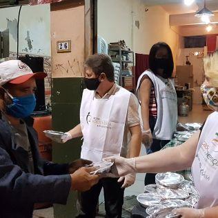 A enfermeira Simone Loreto ajuda no projeto todos os dias. | Fotos: Marcio Luis Pereira