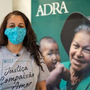 Cristiane acompanha a unidade móvel da ADRA desde o início, em 2016. (Foto: Arthur Henrique)