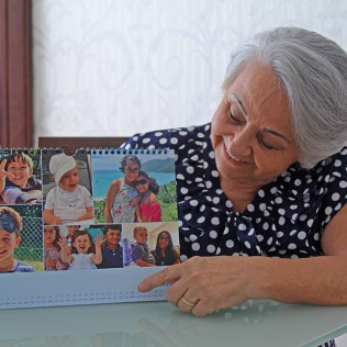 Calendário com os netinhos (Foto: Renata Paes)