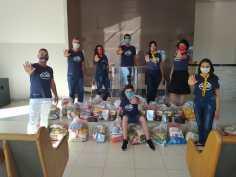 Equipe de Goianorte arrecada uma tonelada de alimentos