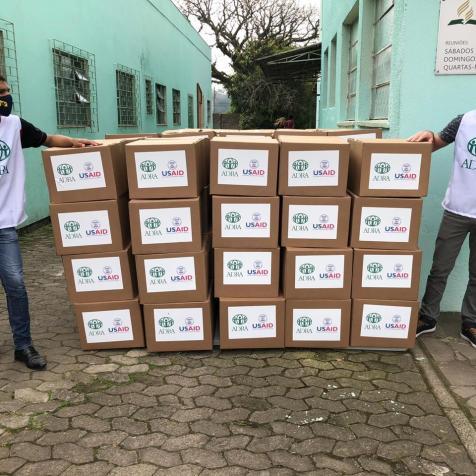 Só no bairro Farrapos foram entregues 230 caixas
