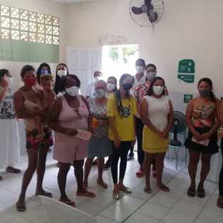Cerca de 15 mães assistiram as orientações de prevenção (Foto: Divulgação)