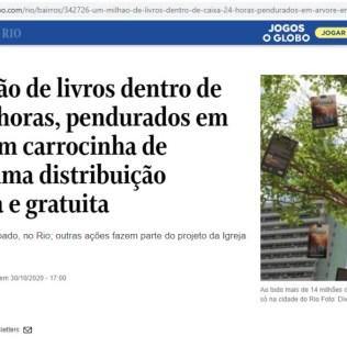 Capa da matéria divulgada no portal O Globo. [Imagem: Divulgação]