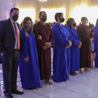 Outras seis pessoas se batizaram no programa. (Jane, Tayra, Jorge, Elizangela, Divino e Luzia) - (Foto Macyon Santos)