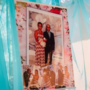 Painel de foto do casal (Foto: Divulgação)