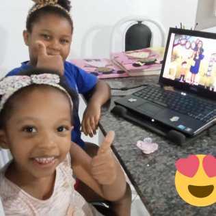 Endy Souza (6) e Luna Souza (3) são da IASD Panorama, em Feira de Santana-BA.