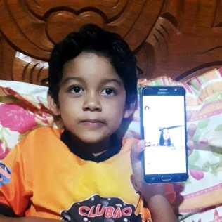 Nicolas Guilherme (5) é de Alta Floresta D'Oeste-RO.
