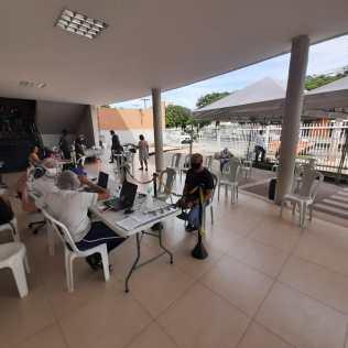 Doação de sangue na Igreja Adventista do Setor Pedro Ludovico, em Goiânia. (Foto: arquivo pessoal)